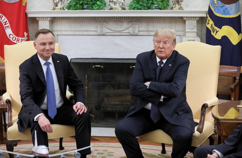 Spotkanie Andrzeja Dudy z Donaldem Trumpem / Leszek Szymański    /PAP