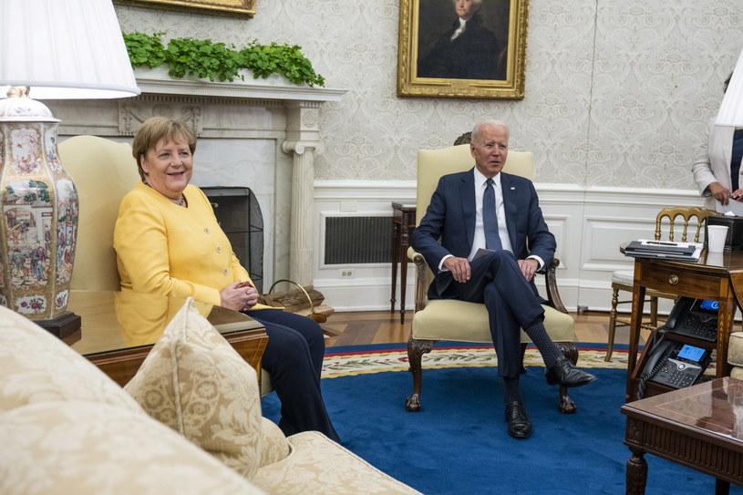 Spotkanie Angeli Merkel z Joe Bidenem w Białym Domu /PAP/EPA/DOUG MILLS/ POOL /PAP