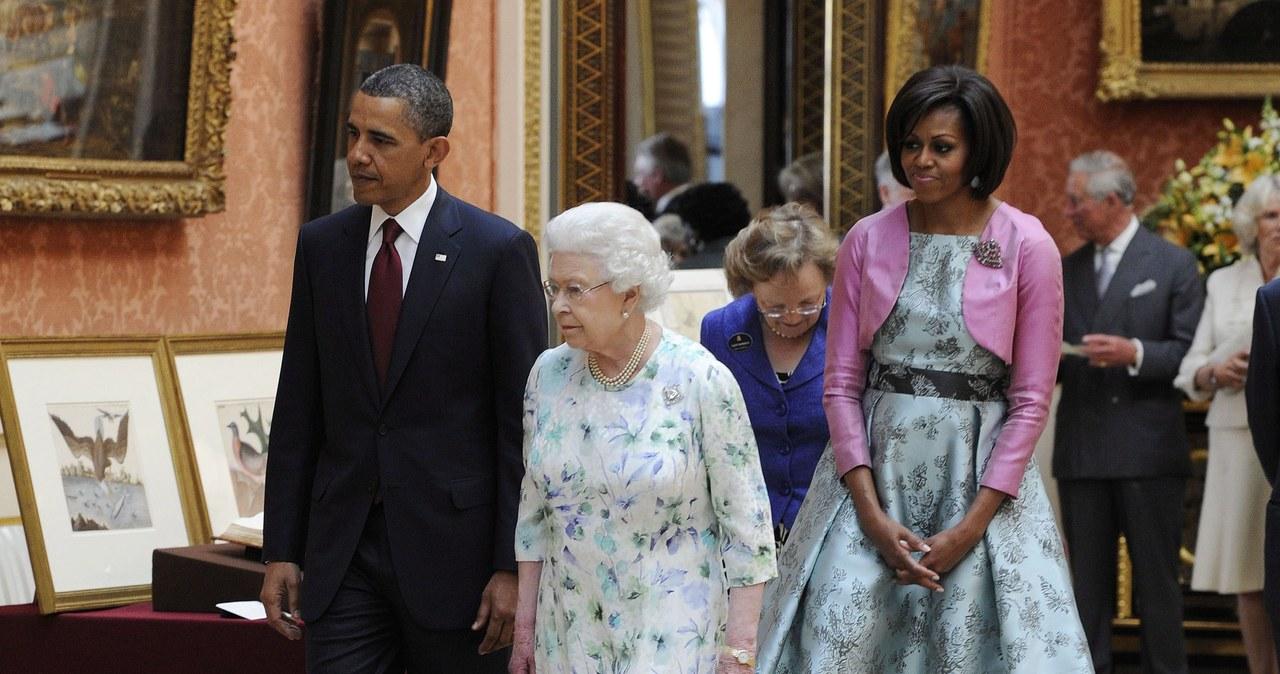 Spotkanie Baracka Obamy z brytyjską rodziną królewską