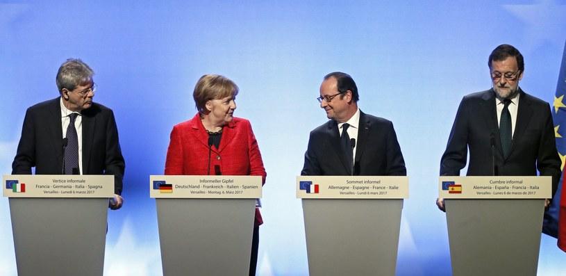 Spotkanie czworga przywódców państw UE /ETIENNE LAURENT /PAP/EPA