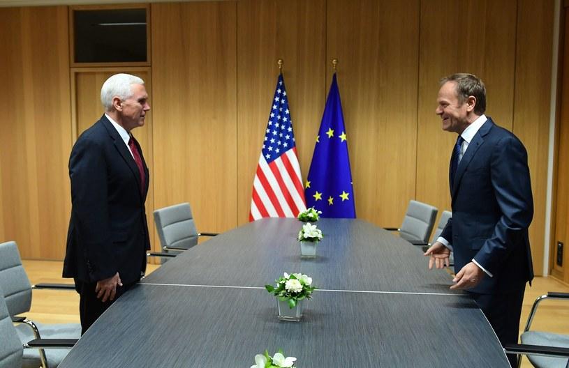 Spotkanie Donalda Tuska i Mike'a Pence'a /EMMANUEL DUNAND /PAP