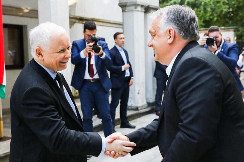 Spotkanie Jarosława Kaczyńskiego z Victorem Orbanem /Prawo i Sprawiedliwość /Twitter
