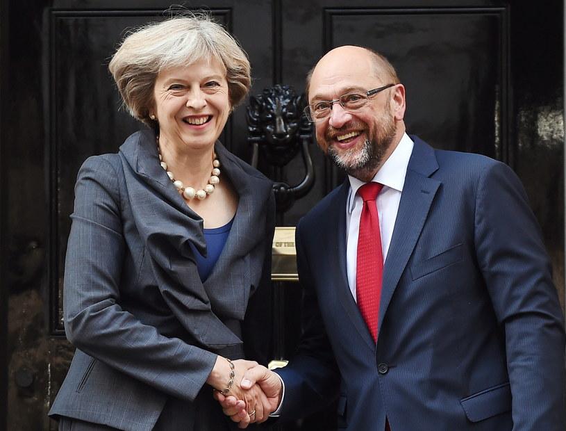Spotkanie Martina Schulza z Theresą May /PAP/EPA