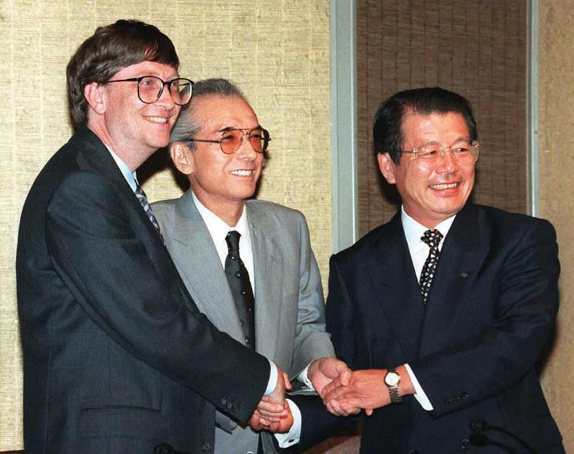 """Spotkanie """"na szczycie"""" w Tokio - 1996 rok /AFP"""