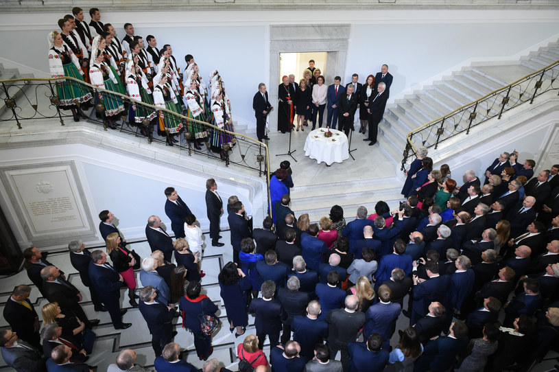 Spotkanie opłatkowe w Sejmie w 2017 r. / Fot. Rafal Oleksiewicz /Reporter