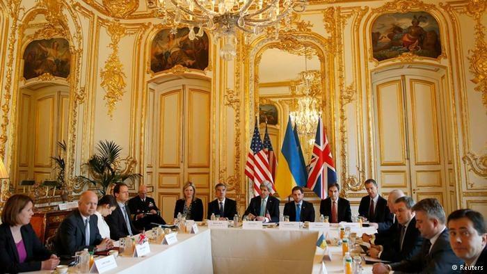 Spotkanie państw-sygnatariuszy Memorandum Budapeszteńskiego 5 marca 2014 w Paryżu. Rosja w spotkaniu nie uczestniczyła /Deutsche Welle