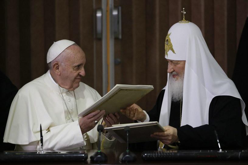 Spotkanie papieża Franciszka i patriarchy Cyryla /GREGORIO BORGIA /PAP/EPA