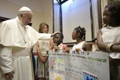 Spotkanie papieża Franciszka z uchodźcami
