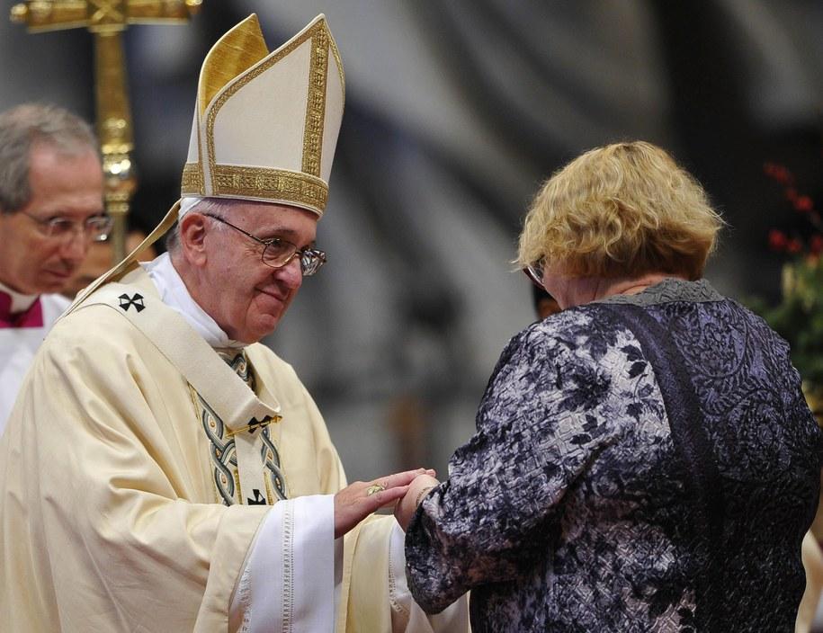 Spotkanie papieża z wiernymi /GIORGIO ONORATI /PAP/EPA