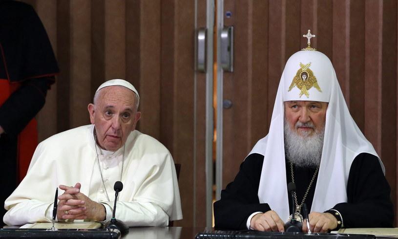 Spotkanie patriarchy Cyryla i papieża Franciszka na Kubie /PAP/EPA