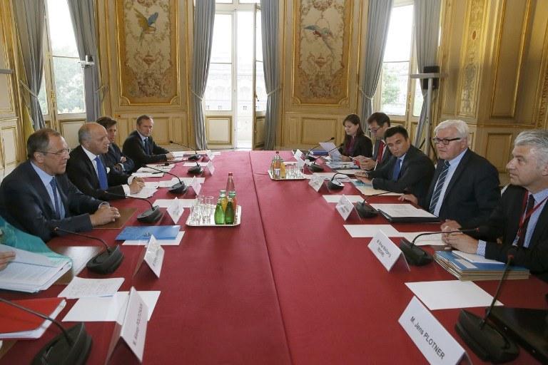 Spotkanie polityków /AFP