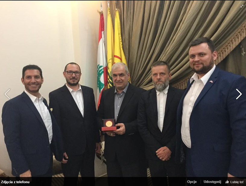 Spotkanie posła Skuteckiego z Mohammadem Raadem /www.facebook.com/SkuteckiPawel/ /