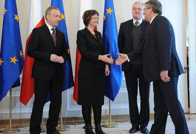 Spotkanie poświęcone ACTA z udziałem prezydenta /fot. J. Turczyk /PAP
