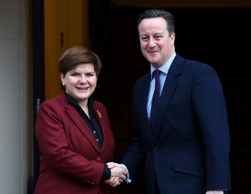 Spotkanie premier Beaty Szydło i premiera Davida Camerona w Warszawie /Radek Pietruszka /PAP