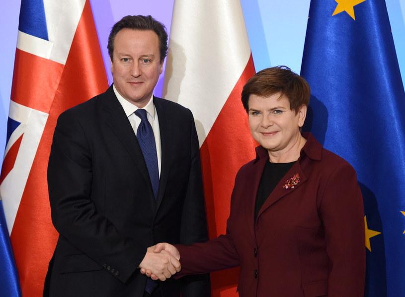 Spotkanie premier Beaty Szydło z szefem brytyjskiego rządu Davidem Cameronem /Radek Pietruszka /PAP