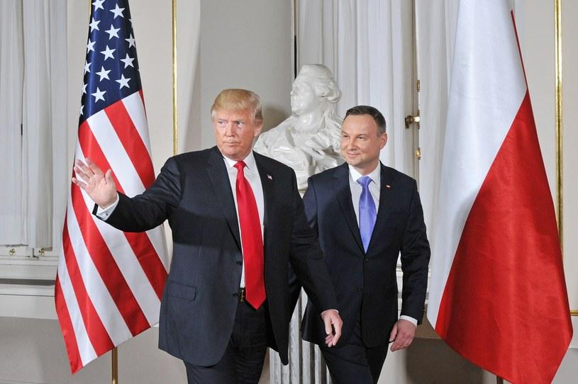 Spotkanie prezydenta Andrzeja Dudy i prezydenta Donalda Trumpa w Polsce /Wojtek Laski /East News