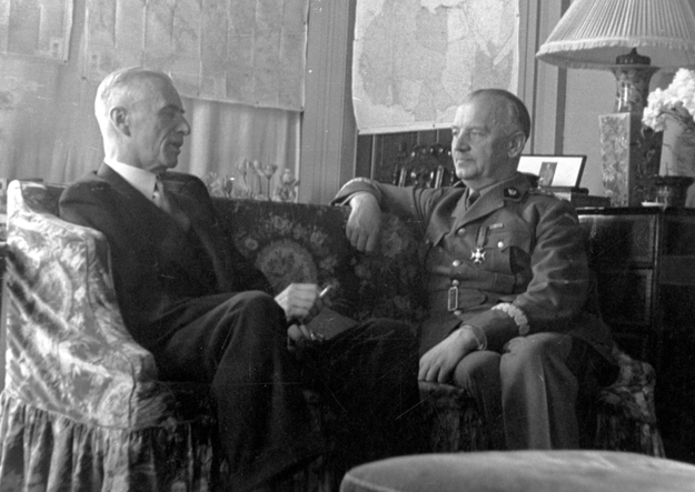 Spotkanie prezydenta Władysława Raczkiewicza i generała Władysława Sikorskiego /Z archiwum Narodowego Archiwum Cyfrowego