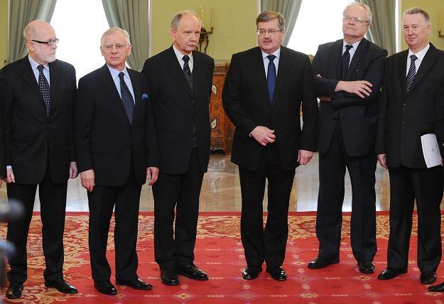 Spotkanie prezydenta z członkami Państwowej Komisji Wyborczej, fot. J. Turczyk /PAP