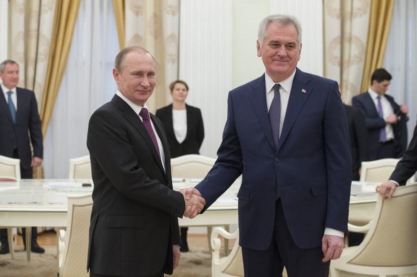 Spotkanie prezydentów Serbii i Rosji /IVAN SEKRETAREV /PAP/EPA