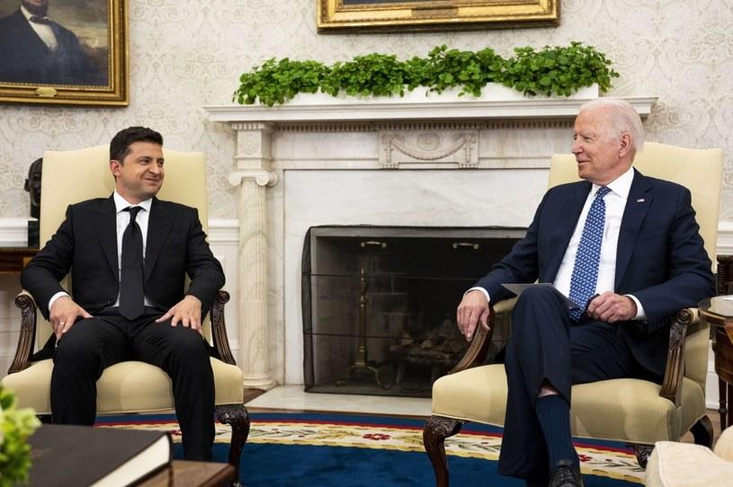 Spotkanie prezydentów Ukrainy i Stanów Zjednoczonych /PAP/EPA/DOUG MILLS/ POOL /PAP
