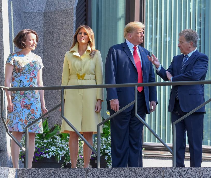 Spotkanie prezydentów USA i Finlandii /Kimmo Brandt /PAP/EPA