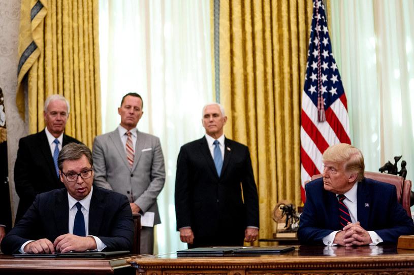 Spotkanie prezydentów USA i Serbii /Pool /Getty Images