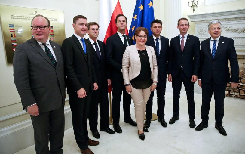Spotkanie robocze premierów oraz ministrów spraw zagranicznych i obrony zrzeszonych w ALDE /Rafał Guz /PAP