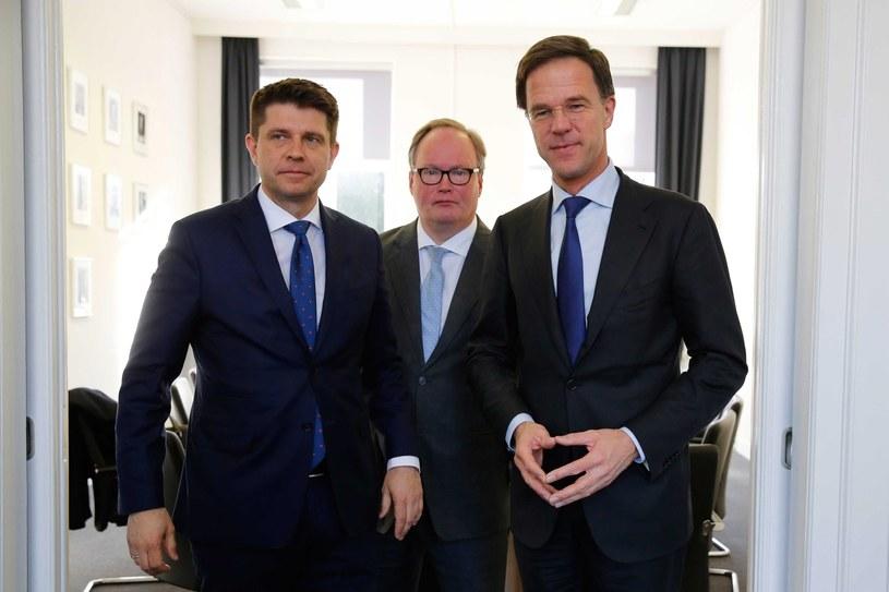 Spotkanie Ryszarda Petru z holenderskimi politykami /BAS CZERWINSKI  /PAP/EPA