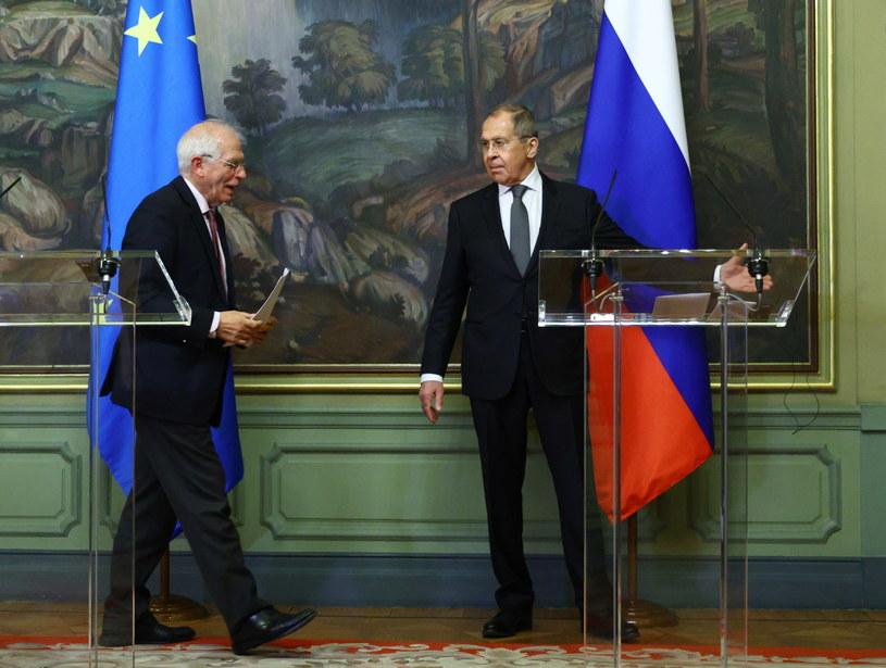 Spotkanie szefa dyplomacji UE Josepa Borrella i rosyjskiego ministra spraw zagranicznych Siergieja Ławrowa /MSZ Rosji /PAP/EPA