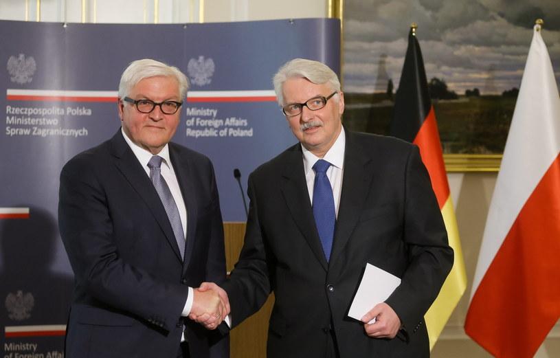 Spotkanie szefów dyplomacji Polski i Niemiec /Paweł Supernak /PAP