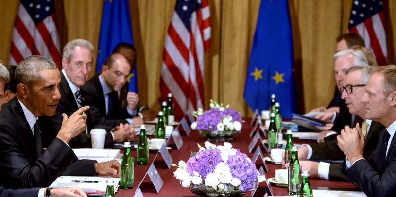 Spotkanie USA-UE przed rozpoczęciem szczytu NATO /Jakub Kamiński   /PAP