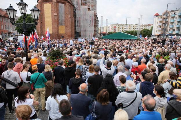 Spotkanie wyborcze w Gorzowie Wielkopolskim / Lech Muszyński    /PAP