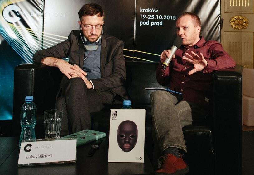 Spotkanie z Lukasem Bärfussem (z lewej) w Krakowie / Michał Ramus, Festiwal Conrada /