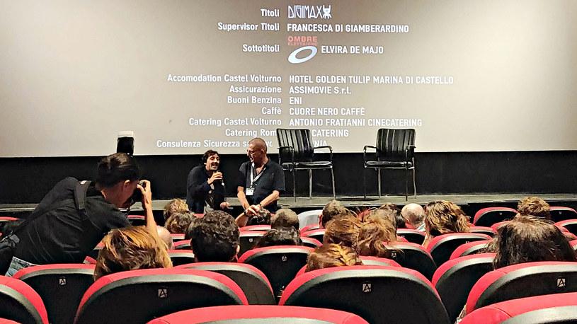 """Spotkanie z Marcello Fontim, odtwórcą głównej roli w filmie """"Dogman"""", który zdobył główną nagrodę w kategorii produkcji zagranicznych /INTERIA.PL"""