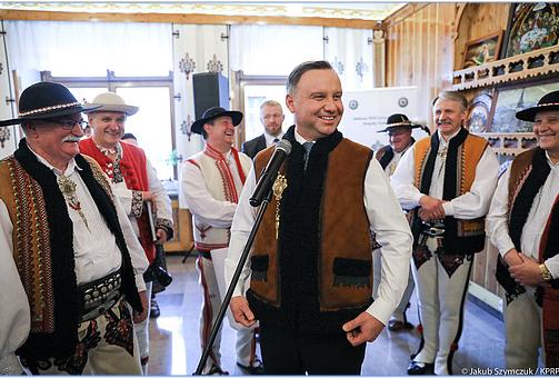 Spotkanie z przedstawicielami Związku Podhalan /Kancelaria Prezydenta/fot. Jakub Szymczuk /