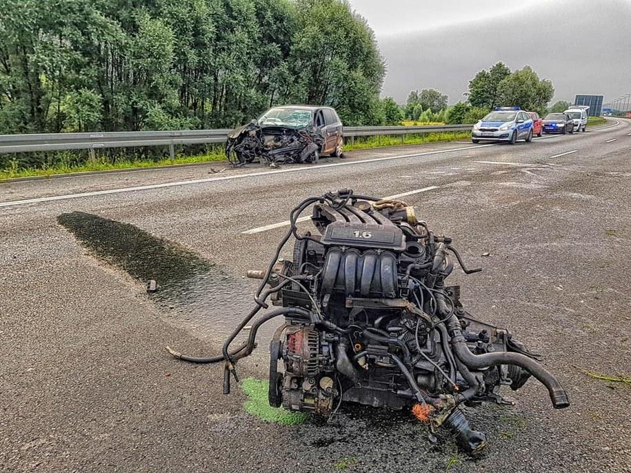 Sprawca wypadku na A4 jechał pod prąd /Policja