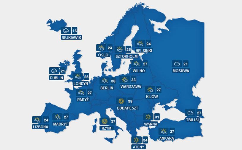 Sprawdź pogodę w Europie. /INTERIA.PL