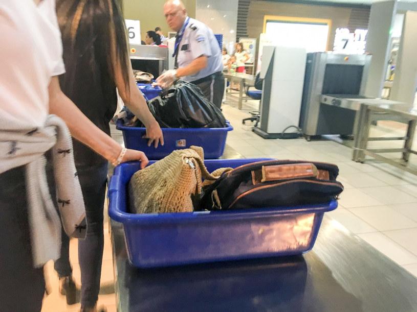 Sprawdzanie bagaży przez służby na lotnisku, zdj. ilustracyjne /Piotr Kamionka /Reporter