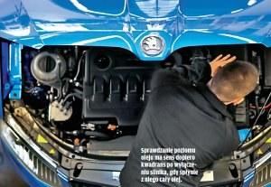 Sprawdzanie poziomu oleju ma sens dopiero kwadrans po wyłączeniu silnika, gdy spłynie z niego cały olej. /Motor