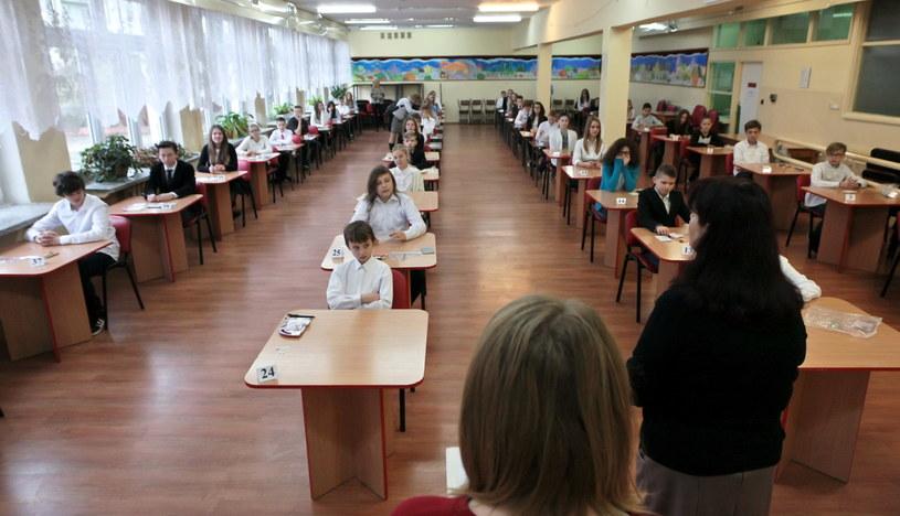 Sprawdzian szóstoklasistów w szkole podstawowej nr 21 w Gorzowie Wielkopolskim /Lech Muszyński /PAP