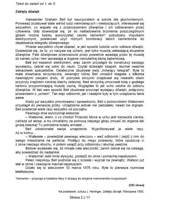 Sprawdzian szóstoklasisty 2014 /CKE /INTERIA.PL
