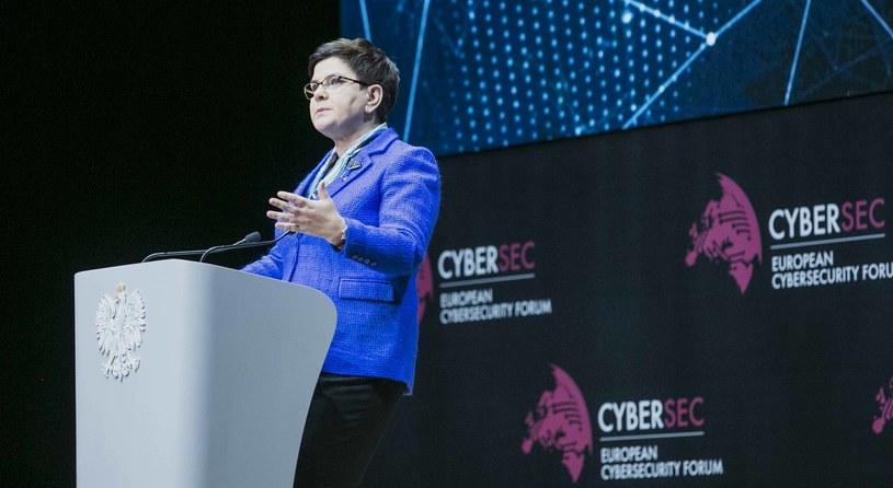 - Sprawy cyberbezpieczeństwa są najważniejszymi sprawami świata - premier Beata Szydło /materiały prasowe