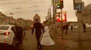 Sprzeczka pary młodej w Rosji