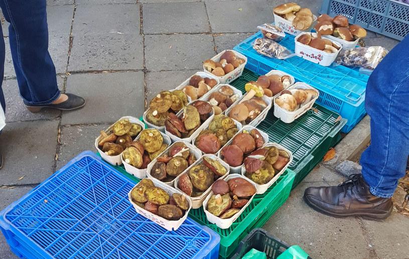 Sprzedaż grzybów na targu (zdjęcie ilustracyjne) /Krzysztof Radzik /East News