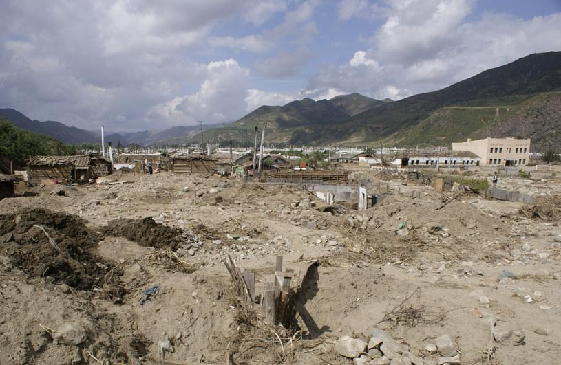 Spustoszenia po powodzi /AFP