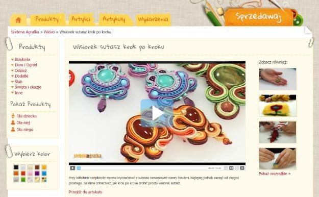 SrebrnaAgrafka.pl - serwis dla poszukujących niepowtarzalnych produktów oraz dla twórców hand made /INTERIA.PL
