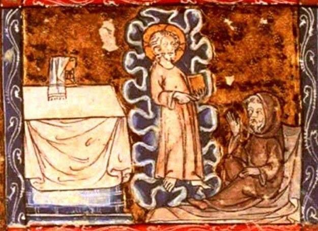 Średniowieczna miniatura przedstawiająca Józefa z Arymatei z Graalem /MWMedia