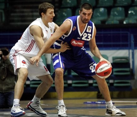 Środkowy Górnika Kristijan Ercegović (z prawej),FOT.Krystyna Pączkowska /Agencja Przegląd Sportowy