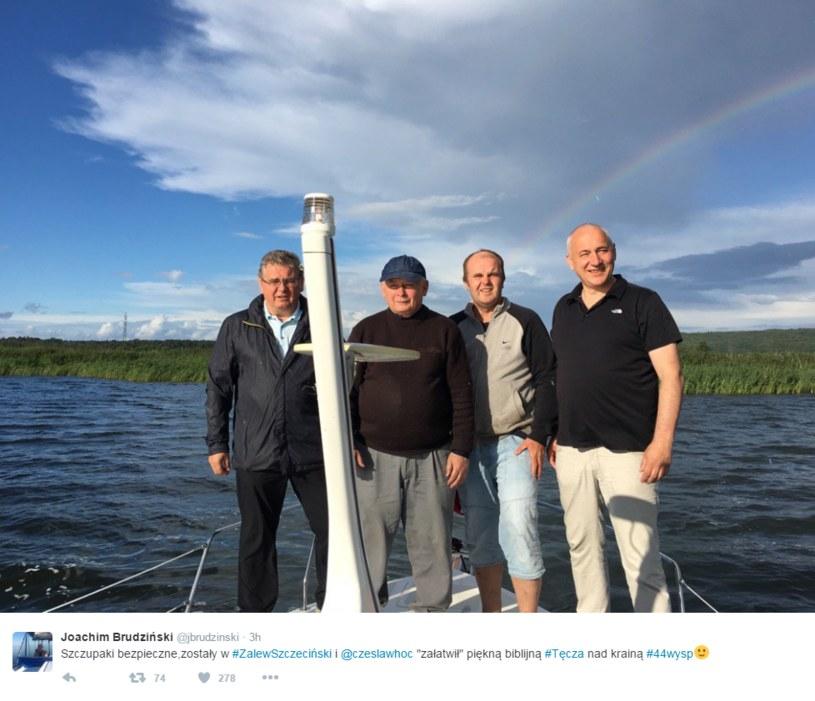 Środowiska LGBT zakłóciły wypoczynek - na niebie pojawiła się tęcza /Twitter