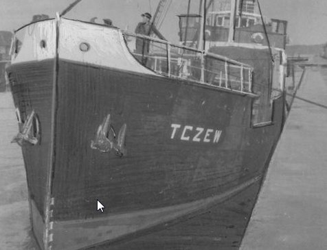 SS Tczew podczas postoju w porcie /Z archiwum Narodowego Archiwum Cyfrowego